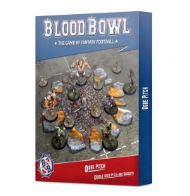 BLOOD BOWL OGRE TEAM PITCH AND DUGOUTS